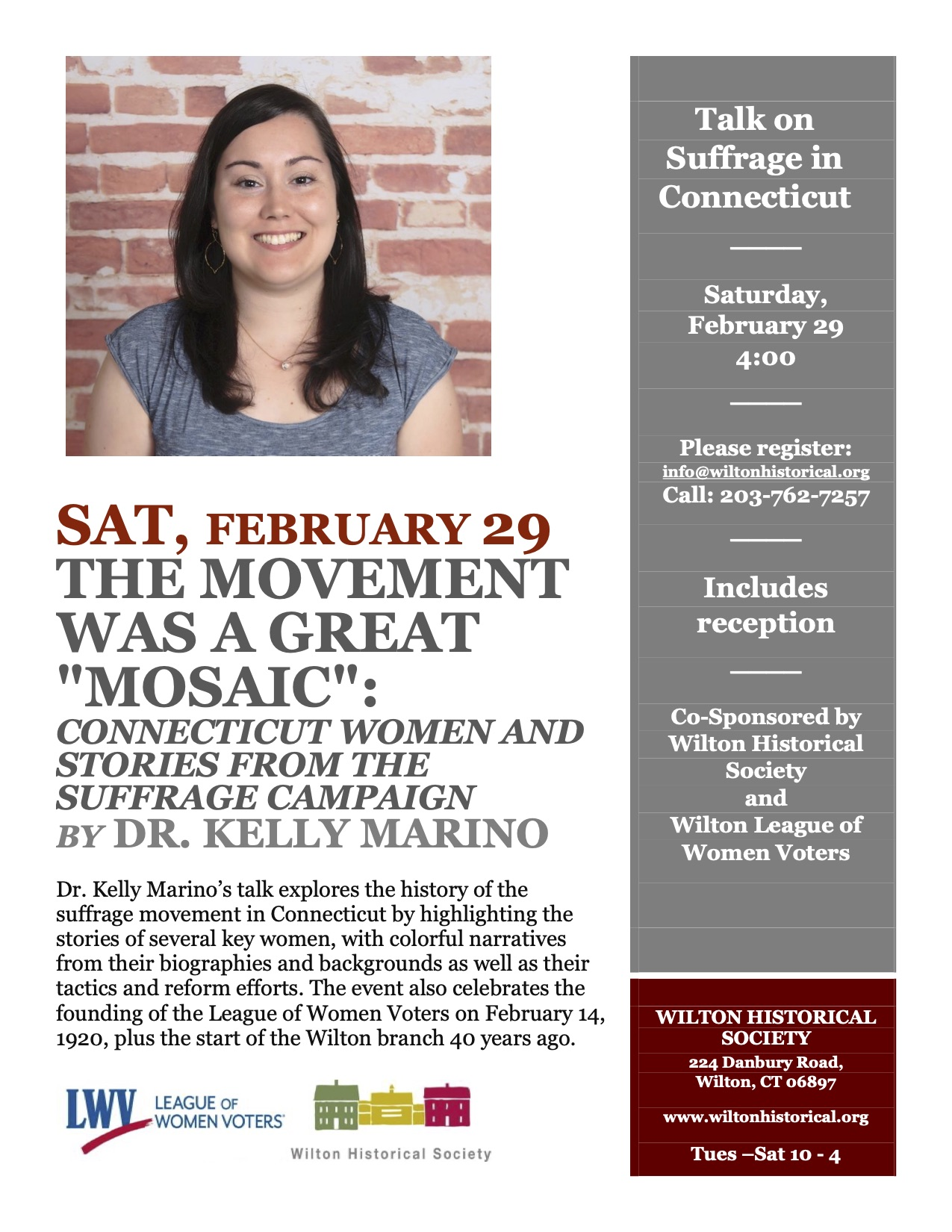 Flyer Suffrage Lecture Great Mosaic Kelly Marino Feb 2020.jpg